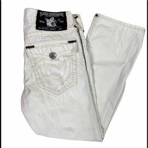 Rare True Religion Ricky Super T Jeans White 33